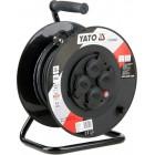 Удлинитель с заземлением на катушке 30 метров 3х1,5 мм² Yato YT-81053